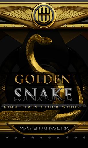 Gold Snake Clock widget