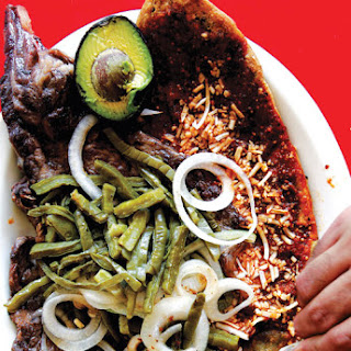 Huarache con Carne Asada (Mexico City–Style Corn Tortillas with Steak)