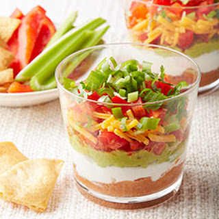 Mini Mexican Layered Dips.