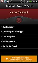 Bitdefender Carrier IQ Finder Screenshot 2