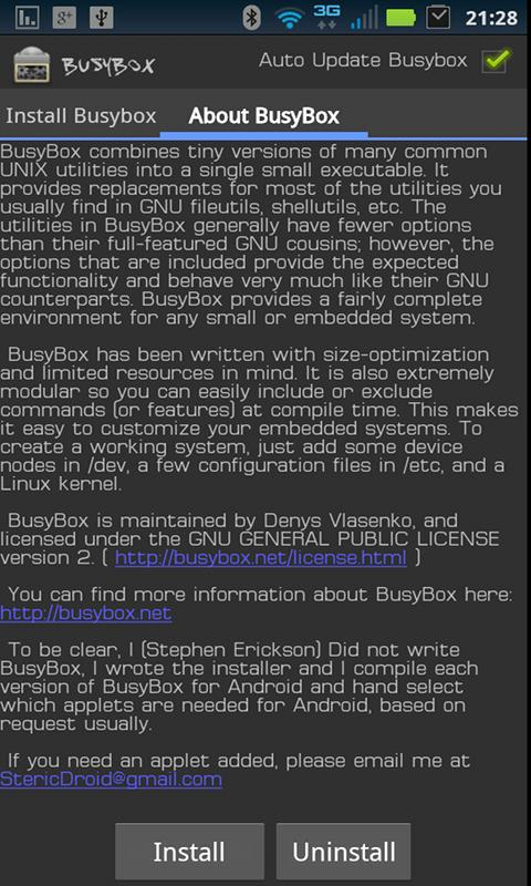 BusyBox: captura de pantalla