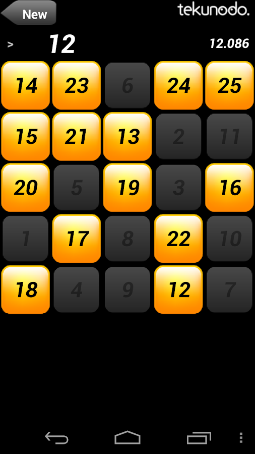 Touch the Numbers for Android- screenshot