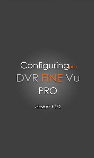 설정 DVR FineVu PRO