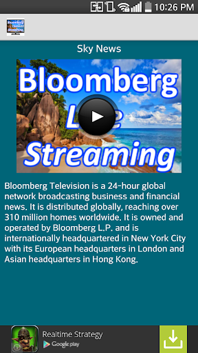 Bloomberg Live Streaming