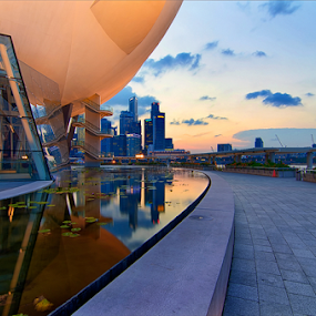 Art Museum by Ram Suson - Buildings & Architecture Public & Historical ( national geographic, sunset, art museum singapore, singapore, marina bay )