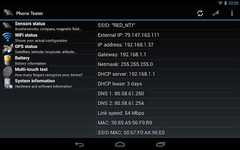 Phone Tester (hardware info) v2.0.6