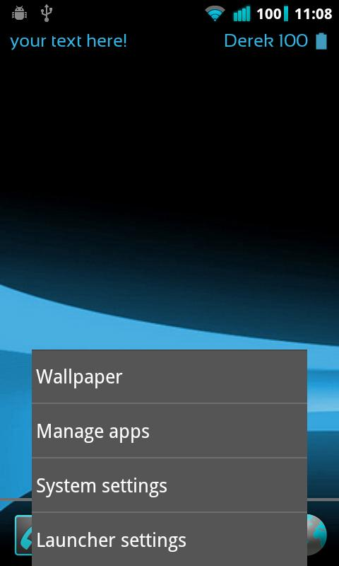 ICS Launcher - screenshot