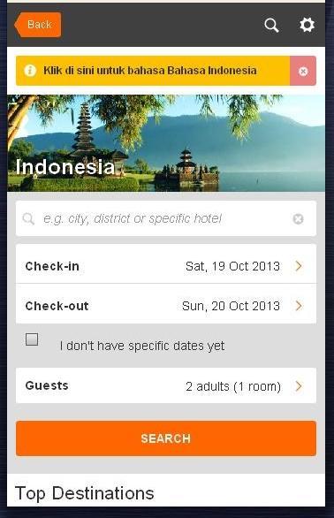 Wisata Indonesia - Cari Hotel - screenshot