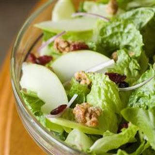 Apple Walnut Salad with Cranberry Vinaigrette