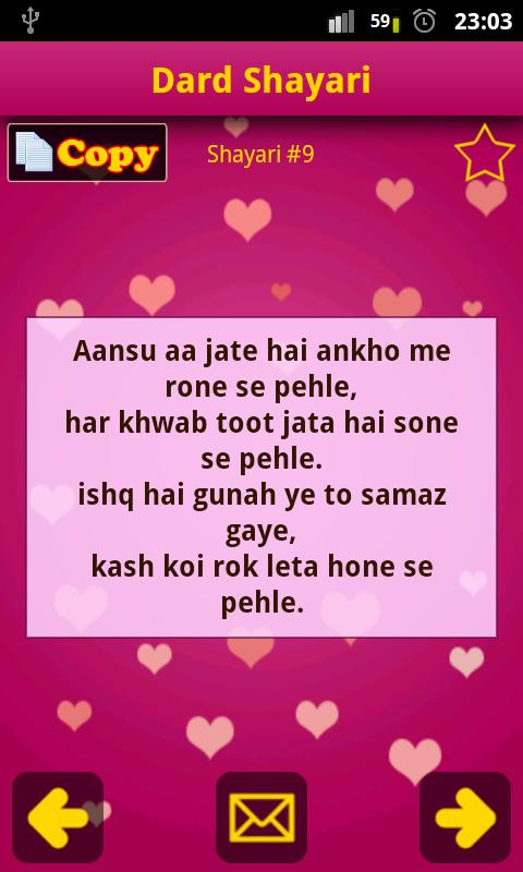 Hindi Shayari Collection FREE!- screenshot