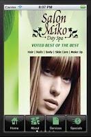 Screenshot of Salon Miko Day Spa