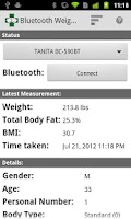 Screenshot of Bluetooth Weight Scale