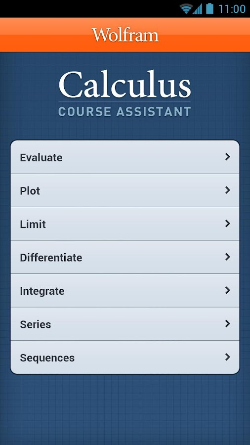 Calculus Course Assistant - screenshot