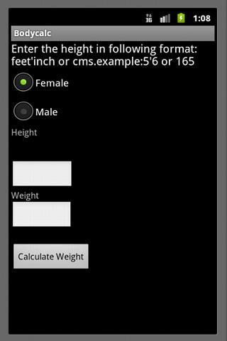 Ideal Weight Calculator BMI