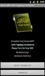 Quran MP3 With Tagalog - screenshot thumbnail