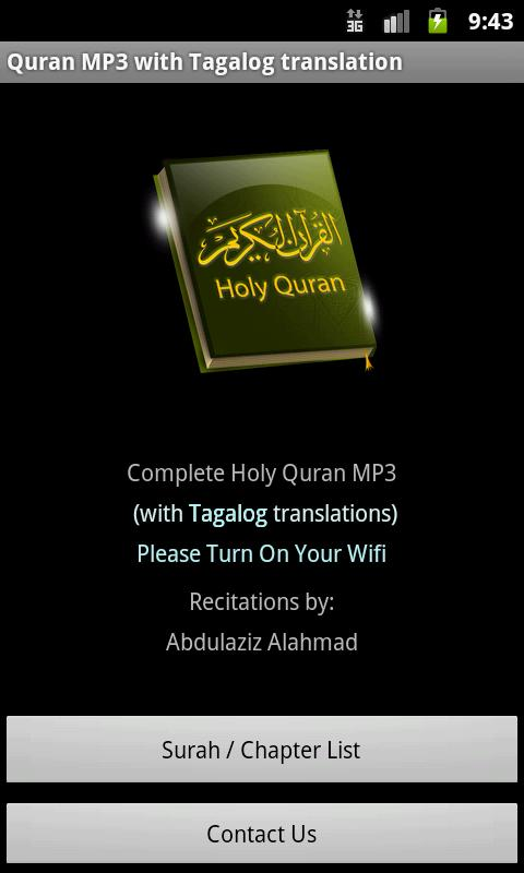 Quran MP3 With Tagalog - screenshot