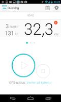 Screenshot of Quicklog Kjørebok