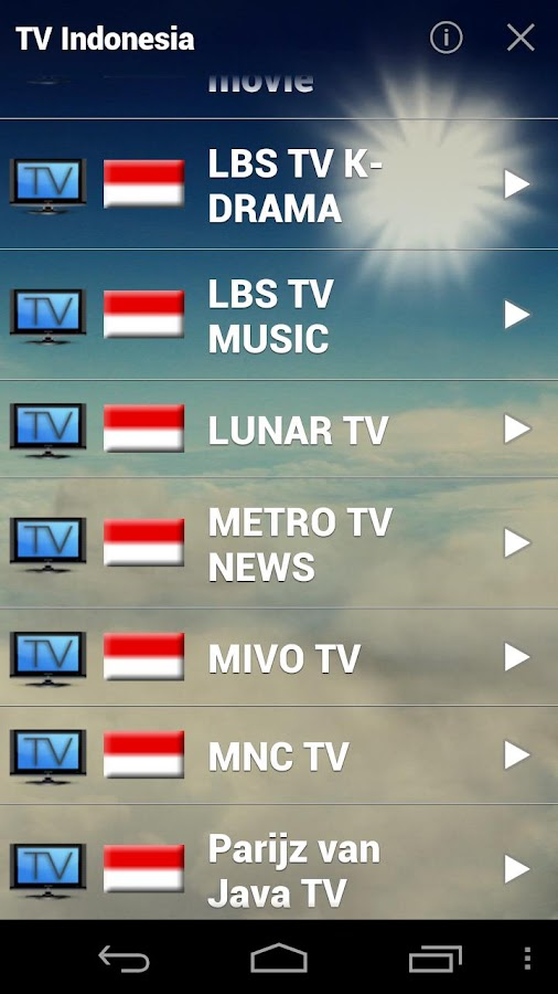 Indonesia TV Live - screenshot