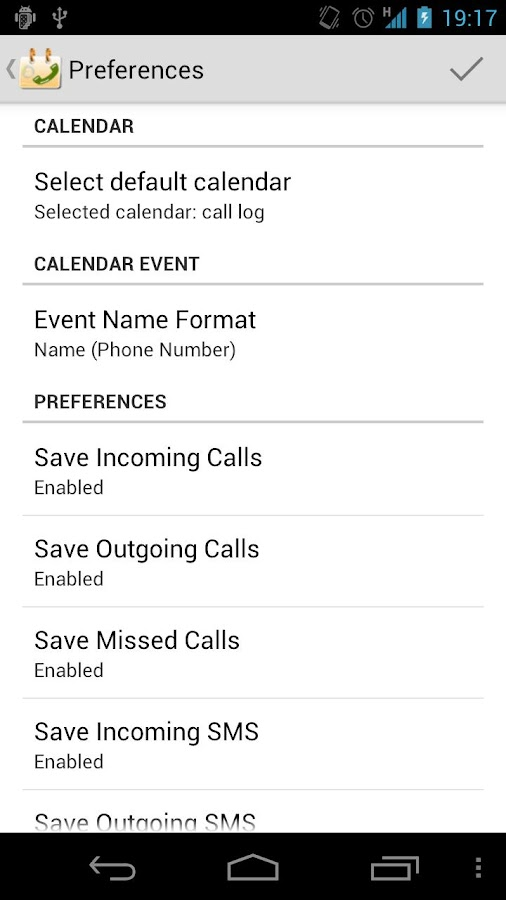 Call Log Calendar - screenshot