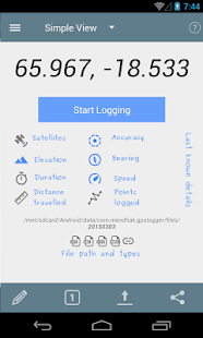 GPS Logger for Android- screenshot thumbnail
