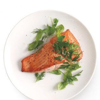 Pan-Seared Salmon with Fresh Herbs.