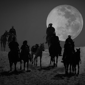 night rider by Stojiljkovic  Zoran - Black & White Portraits & People