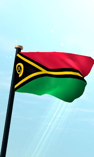 瓦努阿图旗3D动态壁纸