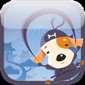 Dog Ninja - Puppy fly jump run icon