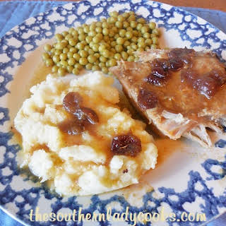 CROCK POT CRANBERRY ORANGE PORK LOIN ROAST.