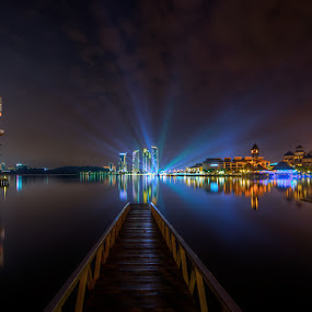 The Ray Of The Light by Mohd Tarmudi - City,  Street & Park  Night (  )