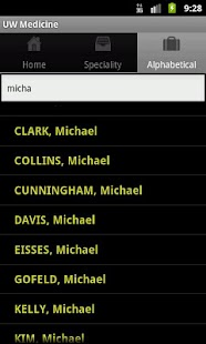 UW Medicine Clinical Directory - screenshot thumbnail