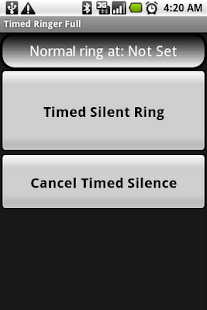 Timed Ringer Silencer Full - screenshot thumbnail