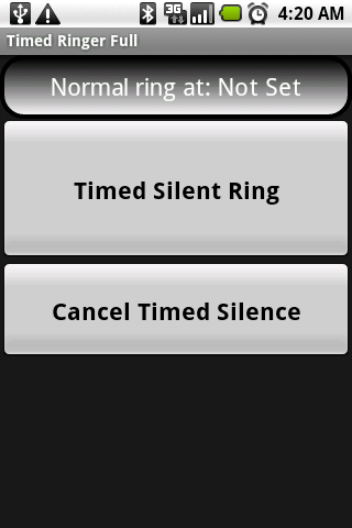 Timed Ringer Silencer Full - screenshot
