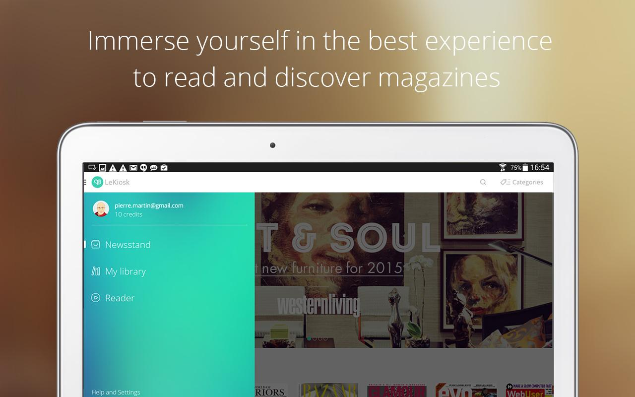 LeKiosk - magazines, anywhere- screenshot