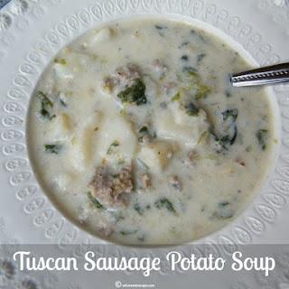 Tuscan Sausage Potato Soup.