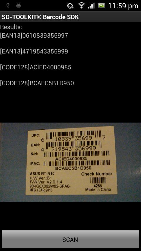 SD-TOOLKIT® Barcode SDK- screenshot
