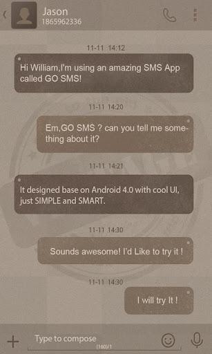 GO SMS PRO VINTAGE THEME