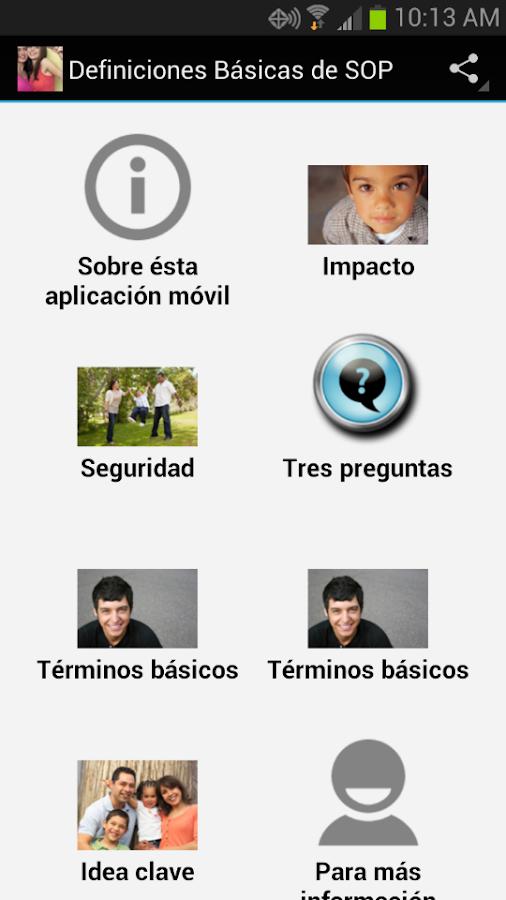 Definiciones básicas de SOP - screenshot