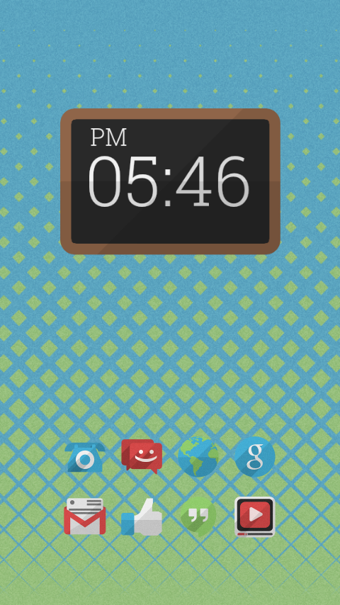 flatshade clock UCCW - screenshot