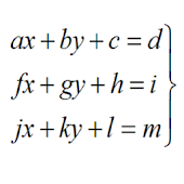 System of Equations 3x3