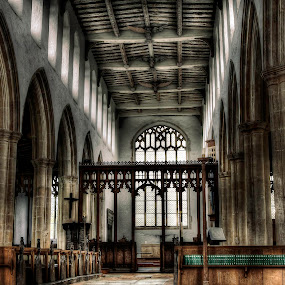 Blythburgh Church by Laura Prieto - Buildings & Architecture Places of Worship ( black dog, blythburg, norfolk, anglican church, light through church window, church interior,  )
