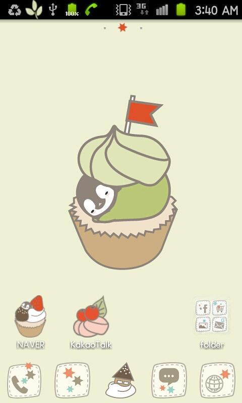 Pepe-berry cupcake Go launcher - screenshot