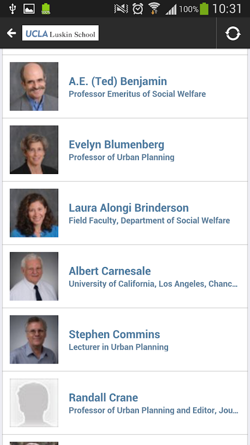 UCLA Luskin School Mobile News- screenshot