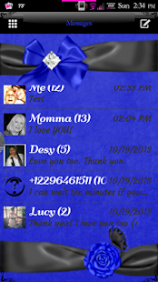 Simply Blue GO SMS Pro Theme - screenshot thumbnail