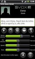 Screenshot of SVOX Slovak Elena Trial