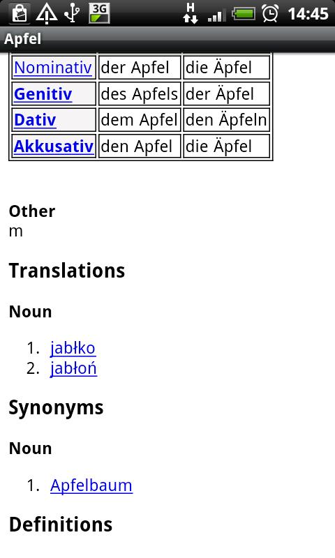 Polish-German Dictionary - screenshot