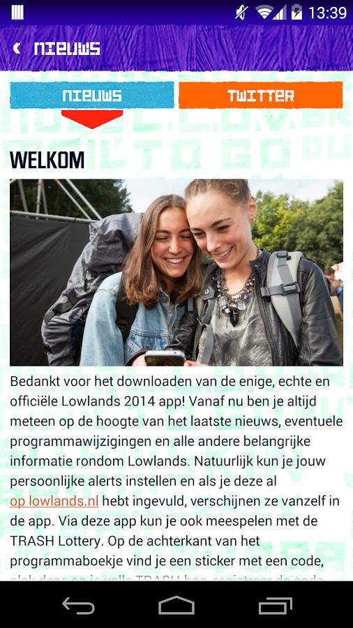 Lowlands 2014 - screenshot