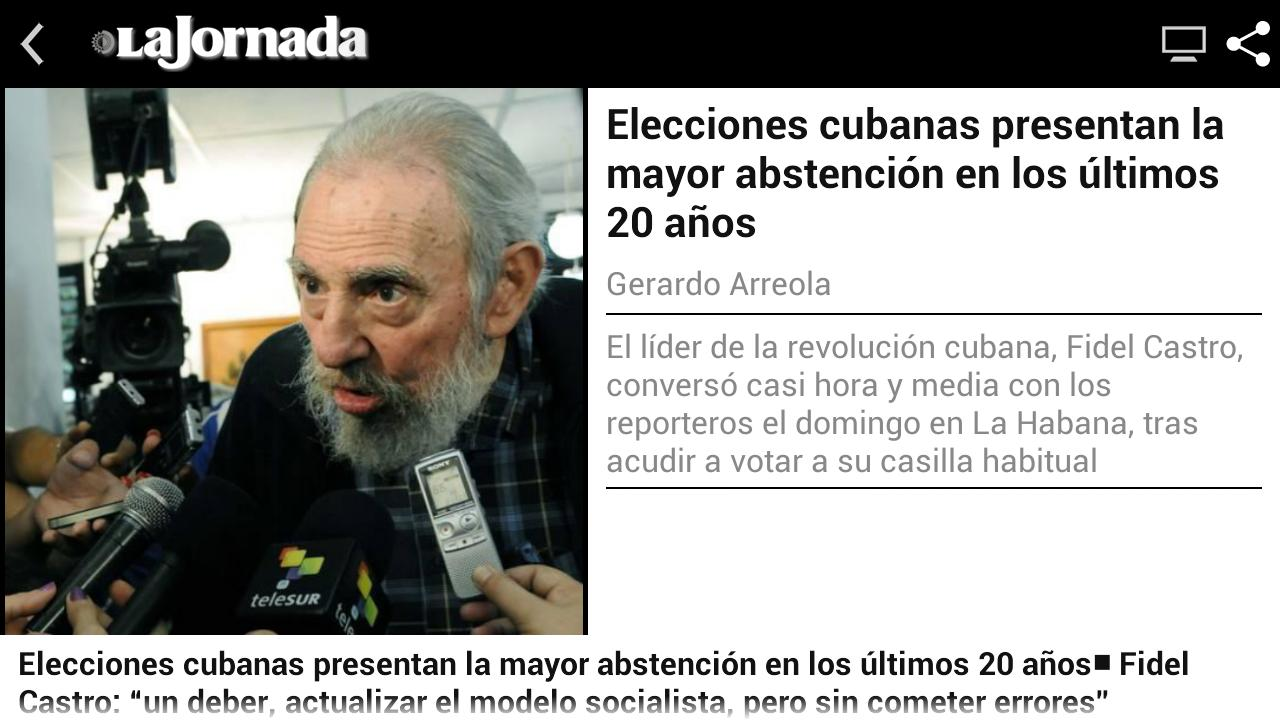 La Jornada - screenshot