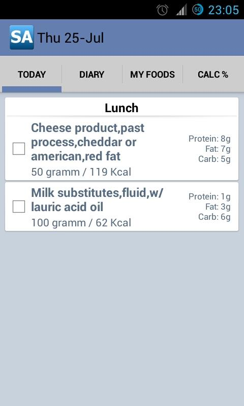 Calorie Counter Slim Assistant - screenshot