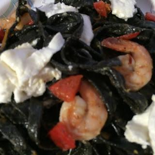 Squid Ink Pasta with Shrimp  Recipe